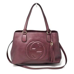 Gucci Soho Large Leather Tote Shoulder/ CrossboBag